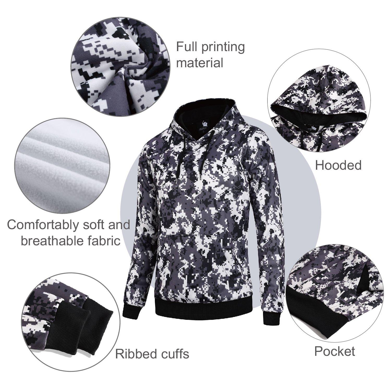 AIRAVATA Mens Hooded Pullover Fashion Longsleeve Fleece Workout Hoodie
