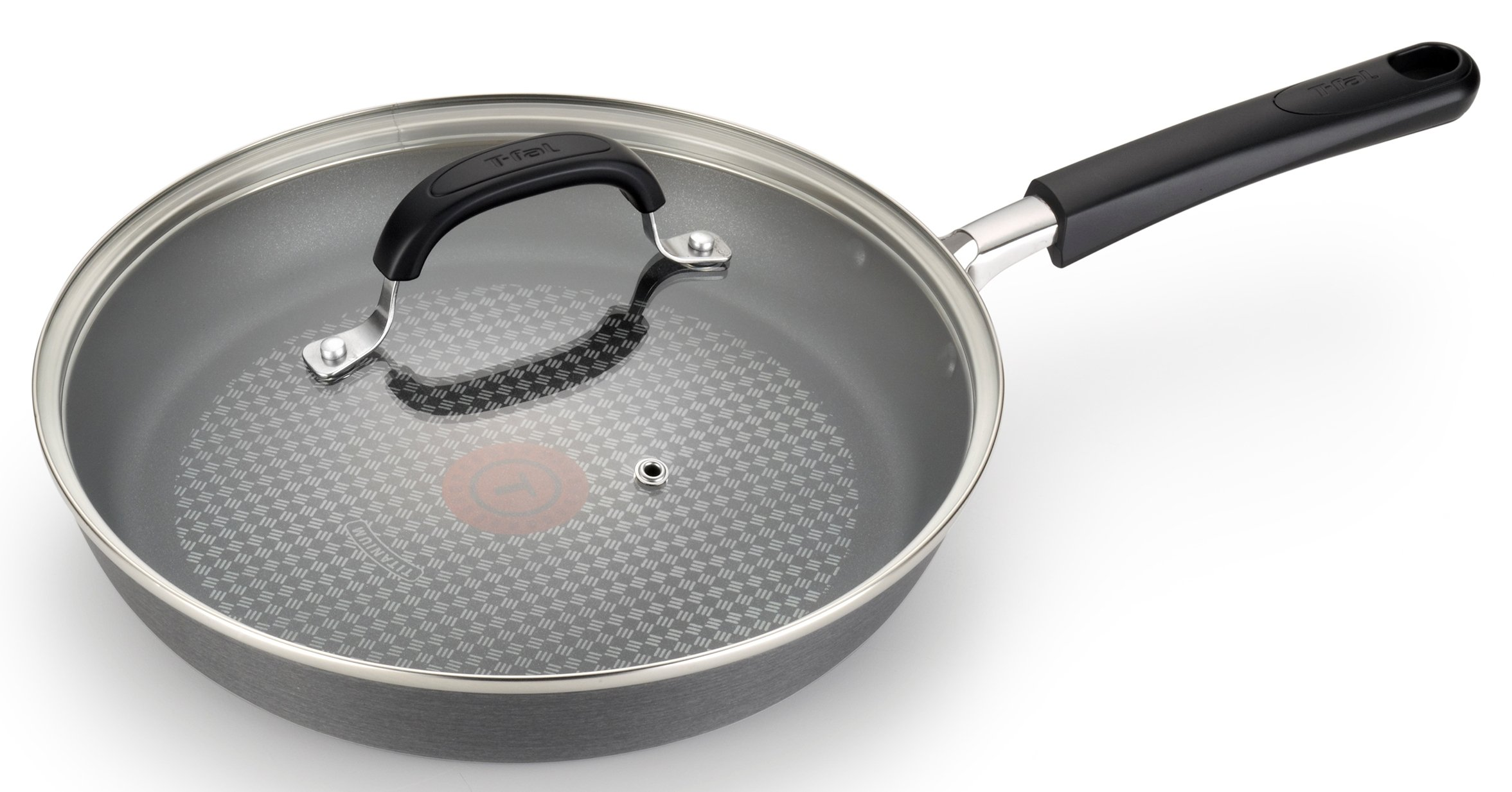 T-fal C037SC OptiCook Hard Anodized Thermo-Spot Scratch Resistant Titanium Nonstick Oven Safe PFOA Free Cookware Set, 12-Piece, Black by T-fal (Image #3)