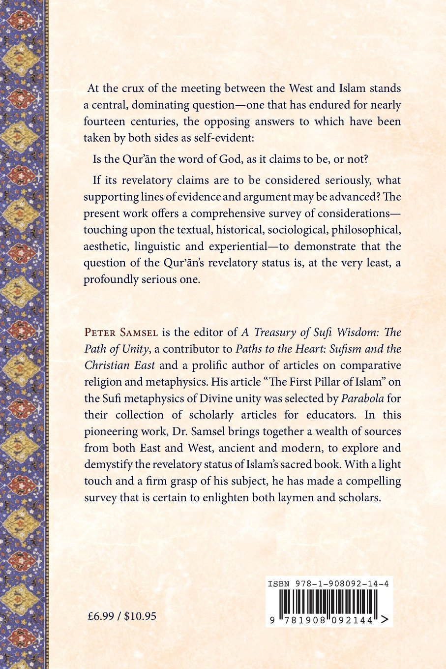 Weighing the Word: Reasoning the Qur'an as Revelation by Matheson Trust