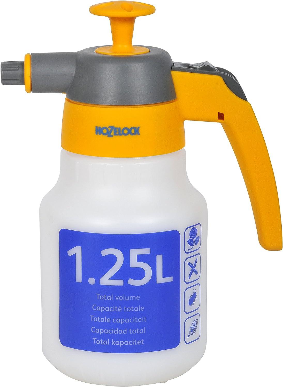 Hozelock 4122 pulverizador de presion previa de 1,25 l, Amarillo, Blanco