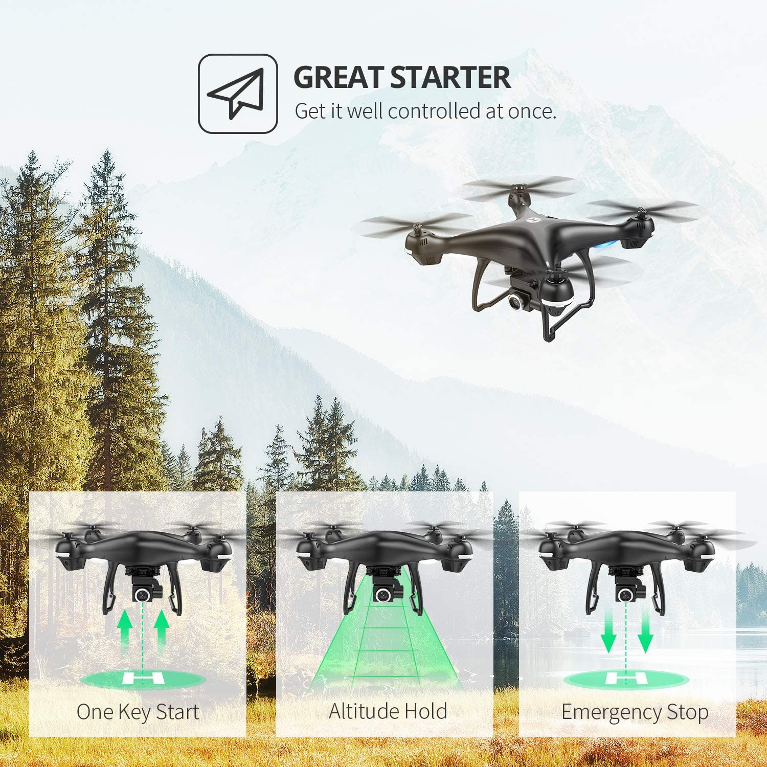 Holy Stone HS100 is one of the best drones for teenagers