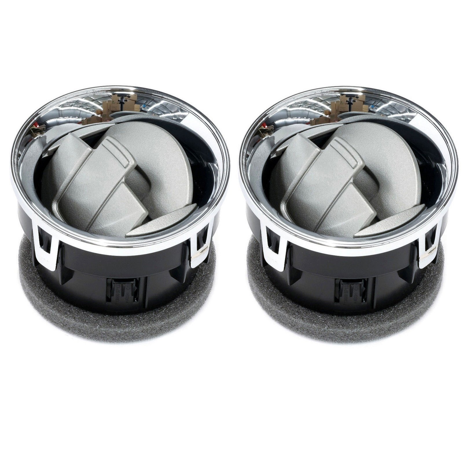 (2) Chrome, Dashboard Heater / Air AC Duct Vents