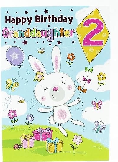 Joyeux Anniversaire 2 Filles Cartes De Vœux Rose Petite Fille Bebe Luxe Minimum Enfants Amazon Fr Fournitures De Bureau