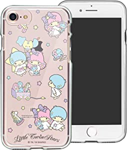 iPhone 5S / iPhone 5 Case Sanrio Cute Border Clear Jelly Cover [ iPhone SE (2016) / 5S / 5 ] Case - Play Little Twin Stars