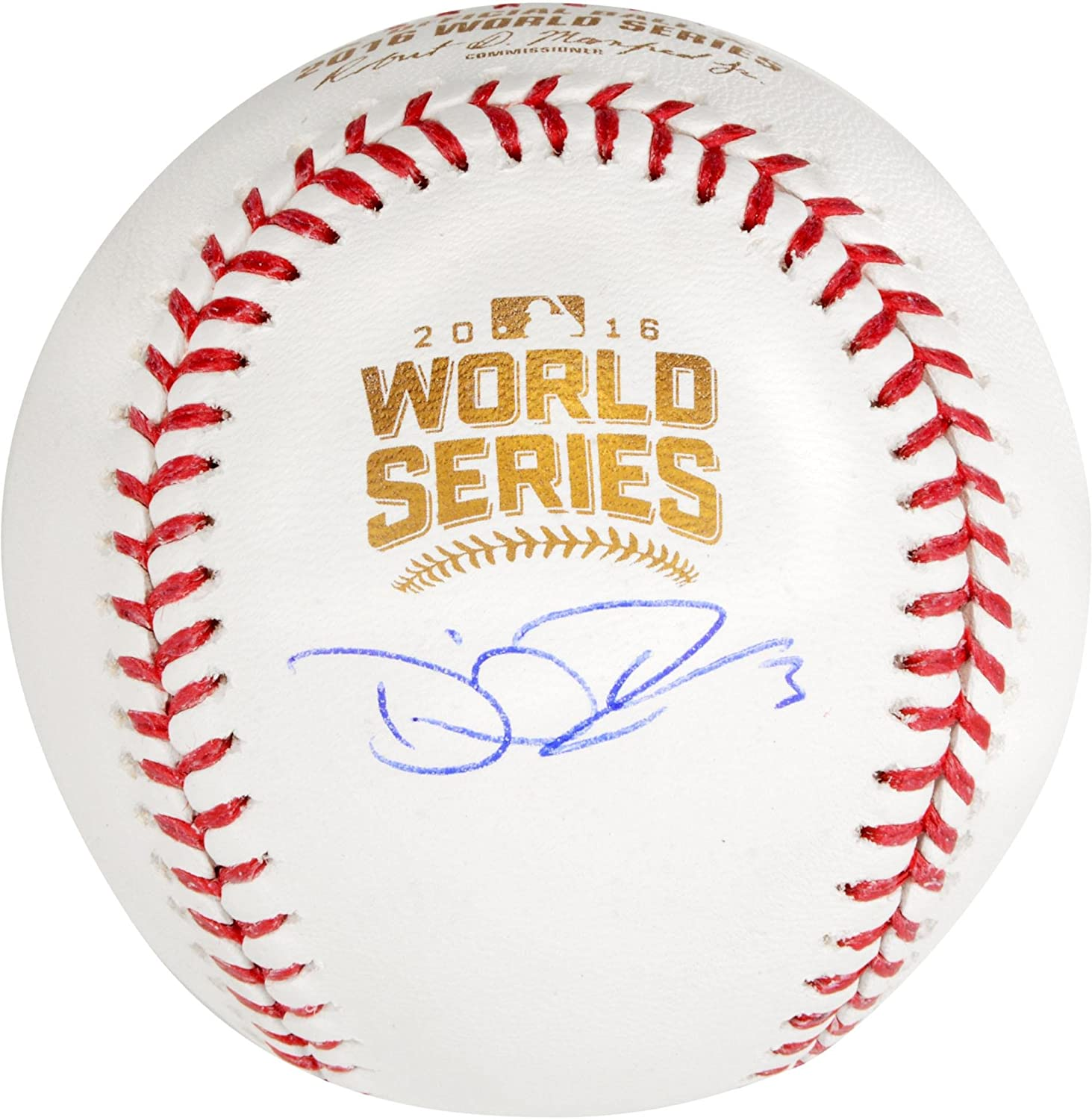 David Ross Chicago Cubs Autographed 2016 MLB World Series Logo Baseball - Fanatics Authentic Certified