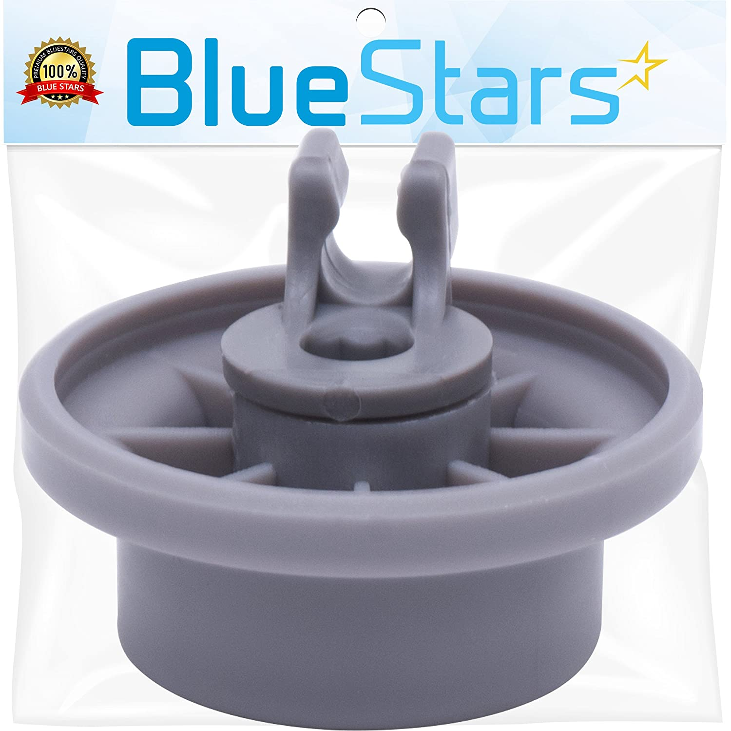 Ultra Durable 165314 Dishwasher Lower Rack Wheel Replacement Part by Blue Stars - Exact Fit for Bosch & Kenmore Dishwashers - Replaces 420198 423232 AP2802428