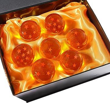 Ensemble de 7pcs avec bo/îte-Cadeau DeliaWinterfel Dragon Ball Z 7 Cristaux avec Gift Box All Stars 5,7 cm Anime by