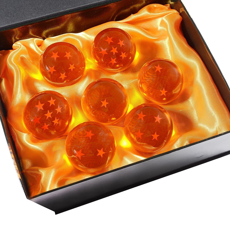 Dragon Ball Z 7 Cristalli in confezione regalo All Stars | 5,7 cm | Confezione da 7 pz | Anime by DURSHANI Rivenbert