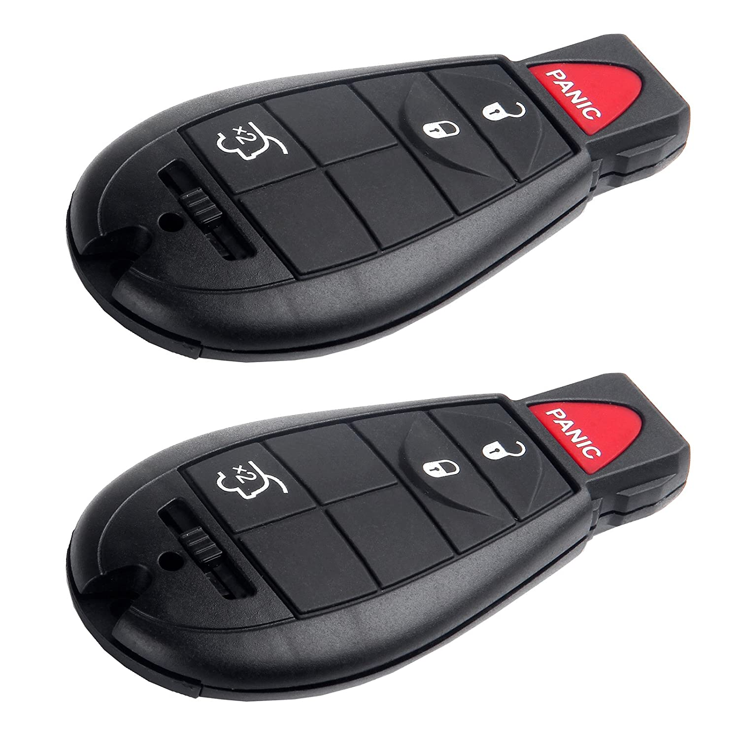 SCITOO Replacement fit for 1X Uncut 6 Buttons Keyless Entry Remote Car Key Fob 2008-2014 Chrysler Town Country//Dodge Grand Caravan M3N5WY783X IYZ-C01C