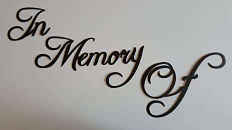 amazon com in memory of memorial word sign fancy script wall accent