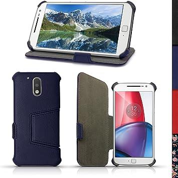 iGadgitz U5349 Funda para teléfono móvil Folio Azul - Fundas para teléfonos móviles (Folio, Motorola, Moto G 4th Generation XT1622 (Moto G4) & Moto G4 ...