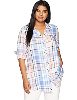 b52ea43eaa0 Foxcroft Women s Plus-Size Zena Herringbone Plaid Tunic