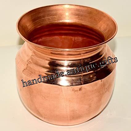 Amazon.com: India Copper Glass Ganga Water Lota Kitchen ...