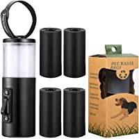 Zonon Leash Treat Holder and Poop Waste Dispenser, 2 in 1 Dog Waste Holder Dispenser and Treat Container Pouch, Includes…