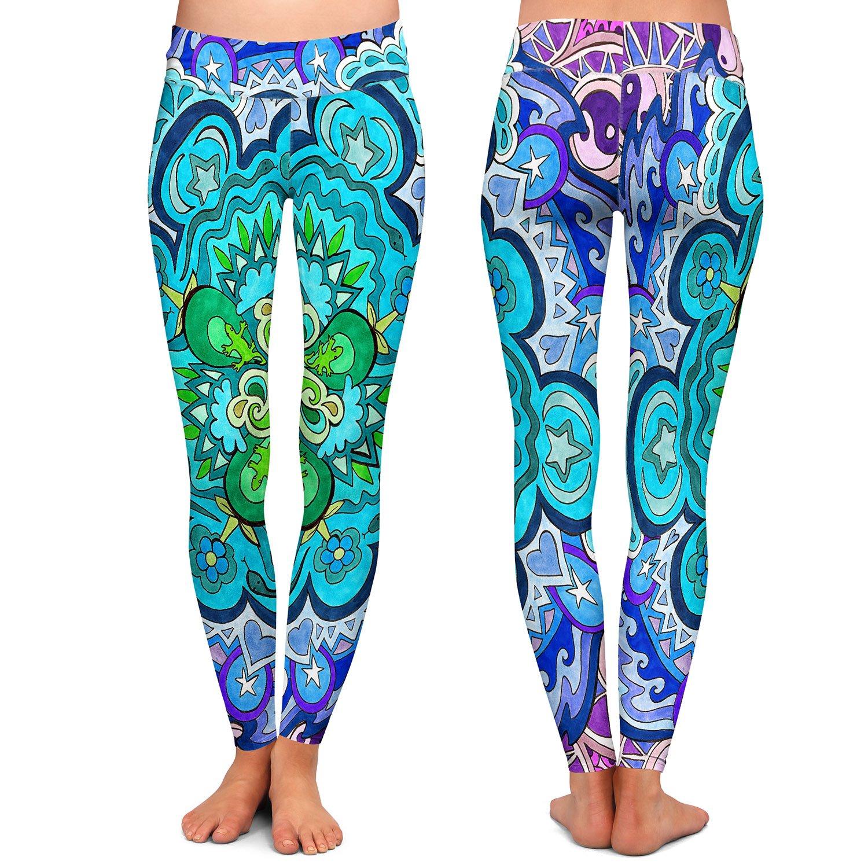 Athletic Yoga Leggings from DiaNoche Designs by Rachel Brown Mystic Mandala