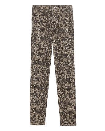 85b0721c Zara Women's Animal Print Skinny Jeans 0327/003: Amazon.co.uk: Clothing