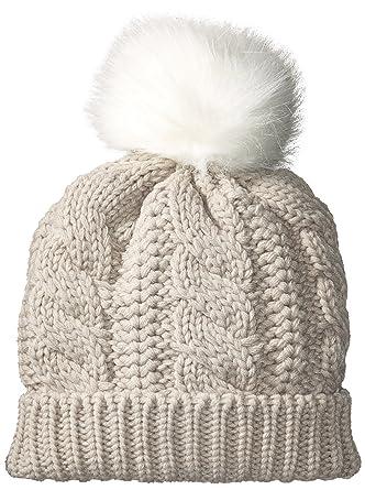 816e8e86ffa Amazon.com  Michael Stars Women s Cable Knit Hat
