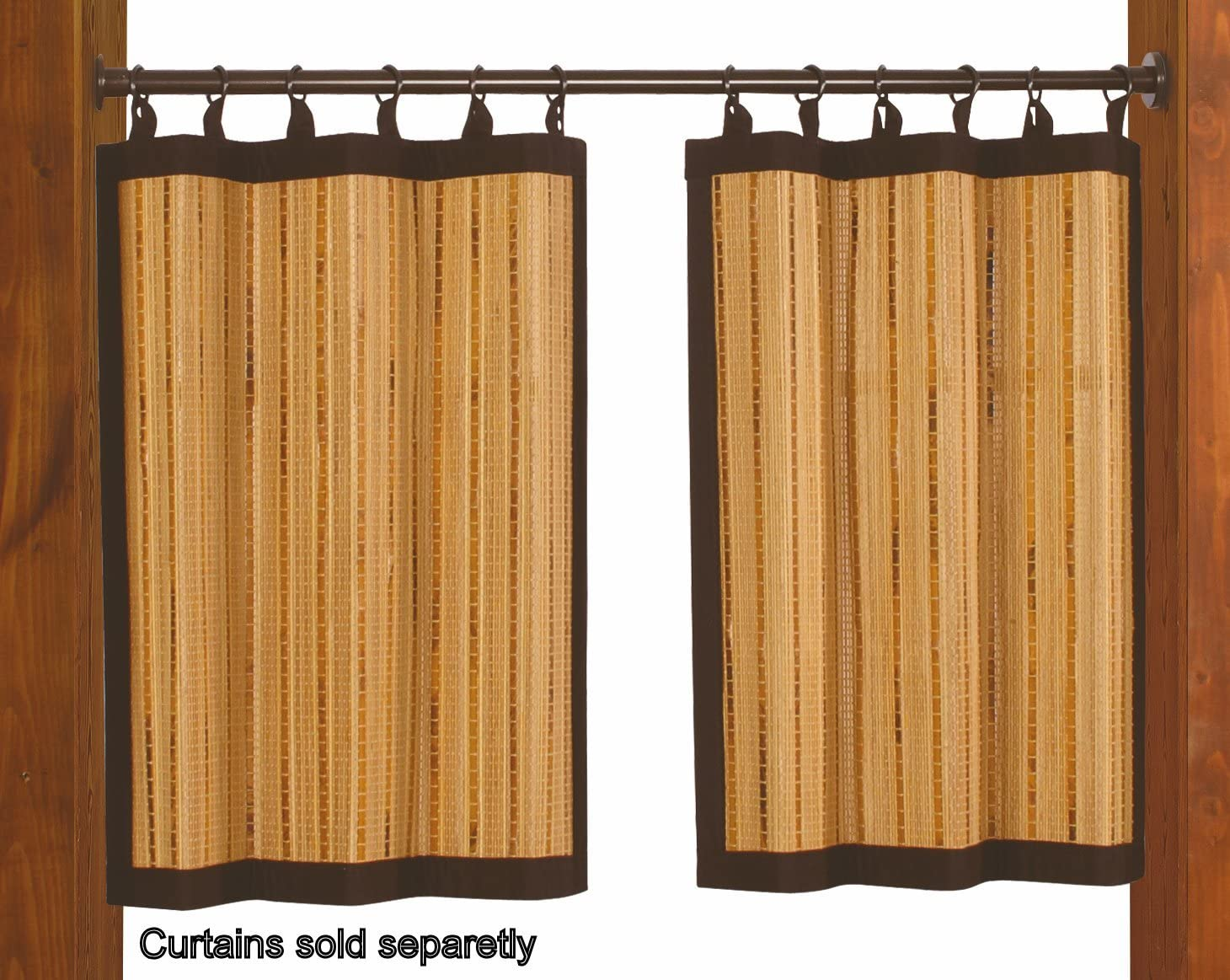 18 x 28 Brushed Nickel Versailles Home Fashions Duo Indoor//Outdoor Stainless Steel Tension Rod
