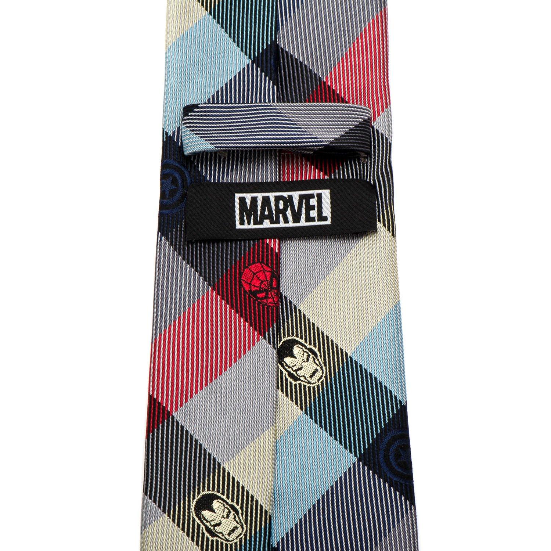 Officially Licensed Marvel Marvel Comics Plaid Men/'s Tie