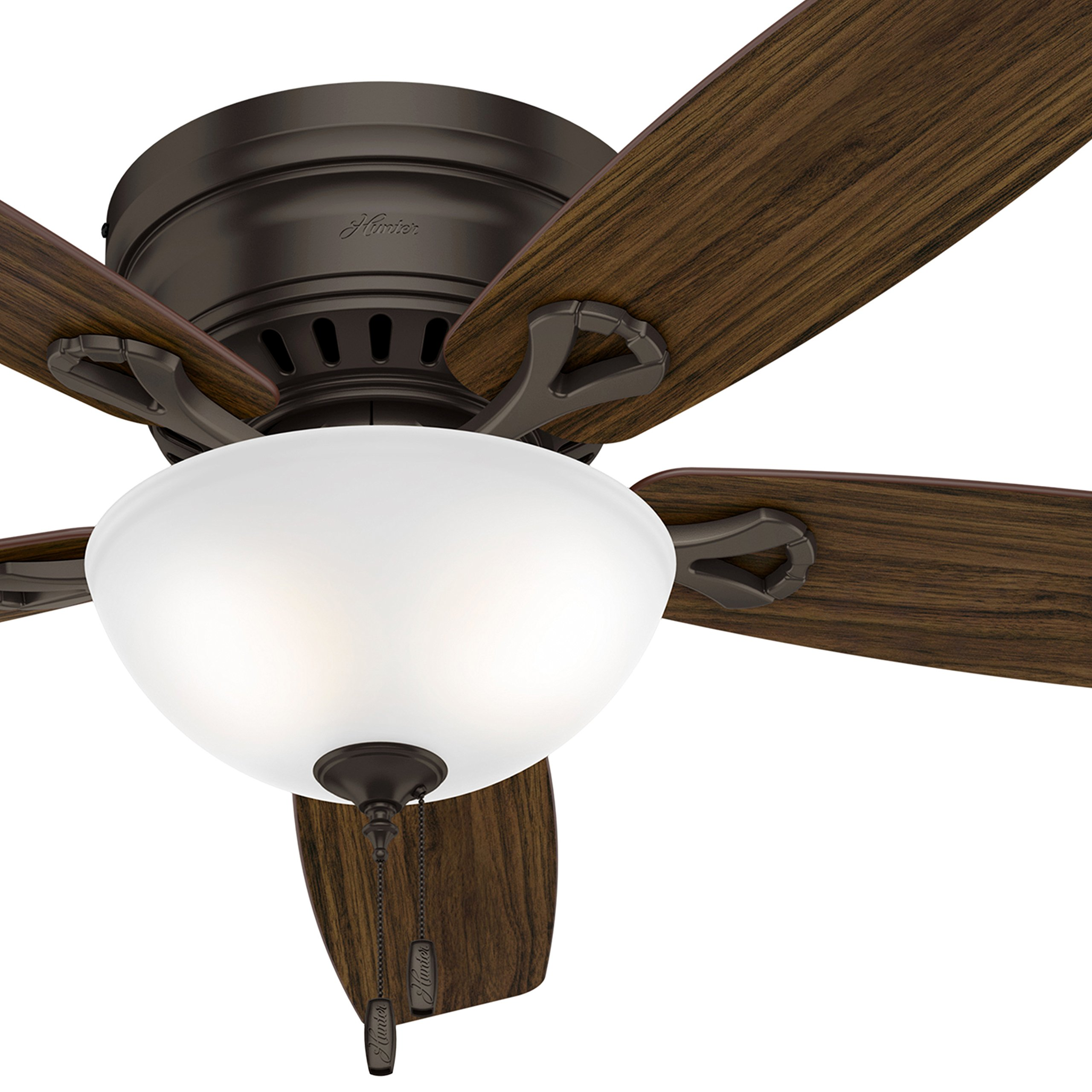 Hunter Fan 52 in. Low Profile Ceiling Fan in Premier Bronze with Bowl LED Light Kit (Certified Refurbished)