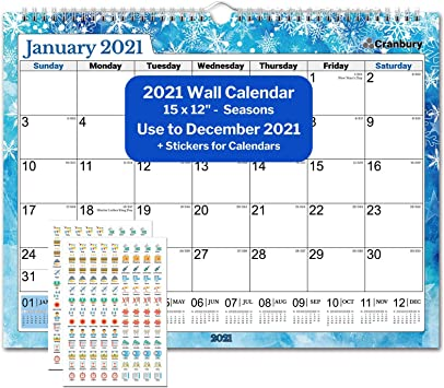 Amazon Com Cranbury Wall Calendar 2021 15x12 Seasons Big Wall Calendar 2021 15x12 Inches Use Now To December 2021 For Full Calendar Year 2021 Include Cute Planner Stickers Office Products