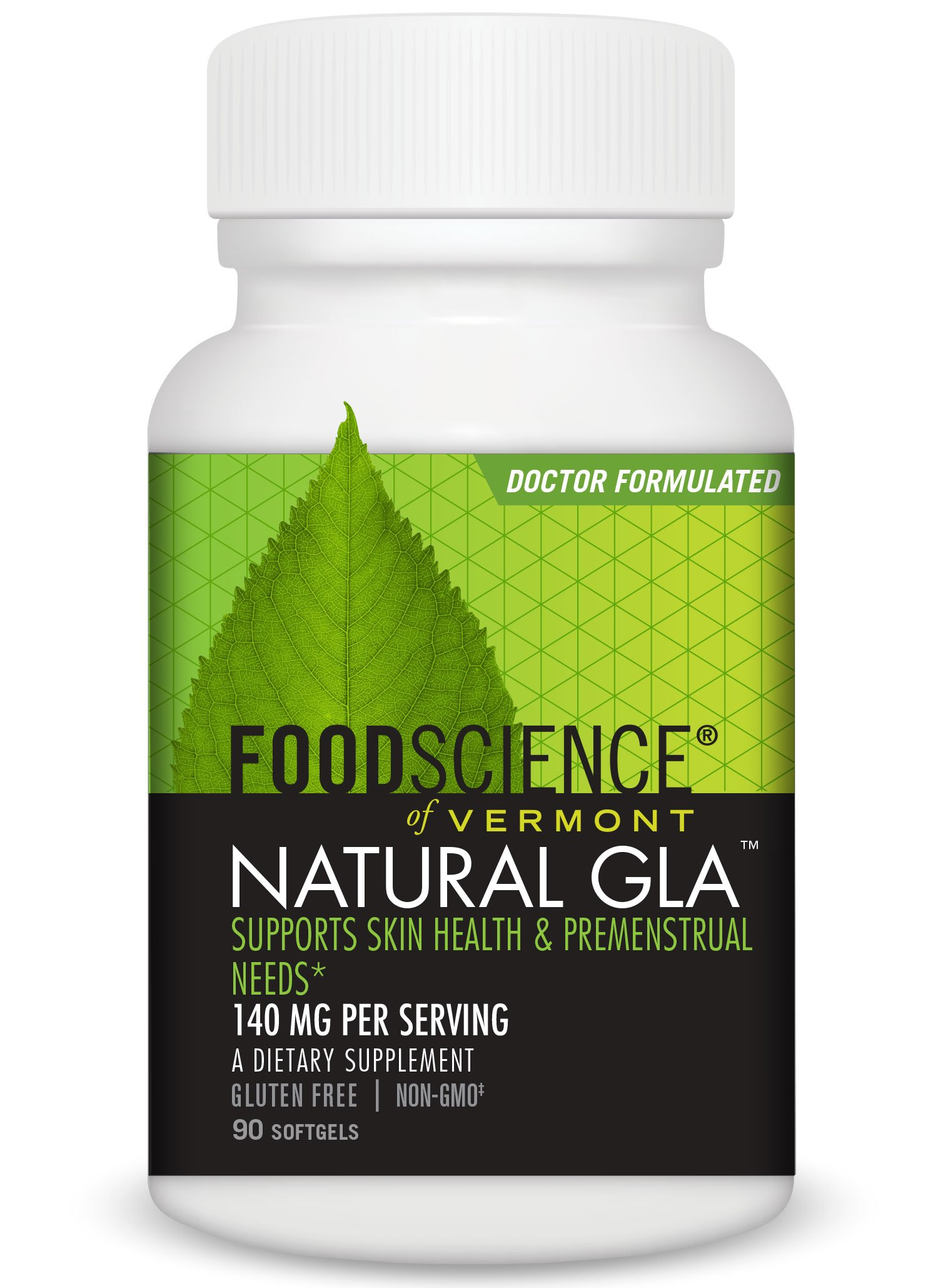 FoodScience of Vermont Natural GLA, Black Currant Seed Dietary Supplement, 90 Soft Gels