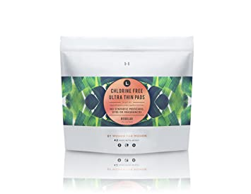 L Organic Pads >> L Organic Cotton Chlorine Free Pads Regular Absorbency With Ultra Thin Design 42 Count
