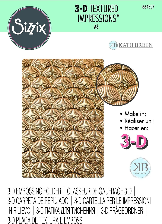 Sizzix 3D Impresslits Embossing Folder 664507 Art Deco by Kath Breen One Size Multicolor