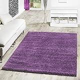 Shaggy Teppich Hochflor Langflor Teppiche Wohnzimmer Preishammer versch. Farben, Farbe:lila;Größe:120x170 cm