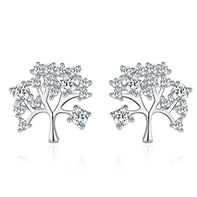 """Meidiya """"The Tree of Life"""" 925 Sterling Silver Stud Earrings for Women Birthday Christmas Gifts"""