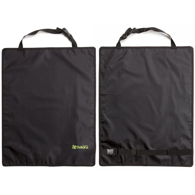 Kick Mats By Bekoru Travel-Premium Large Car Seat Back Protectors 2 Pack –Fits