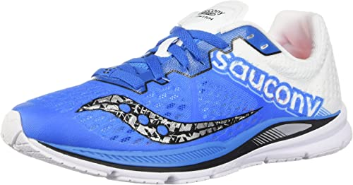 Saucony Mens Fastwitch 8 Running Shoes Blue//White