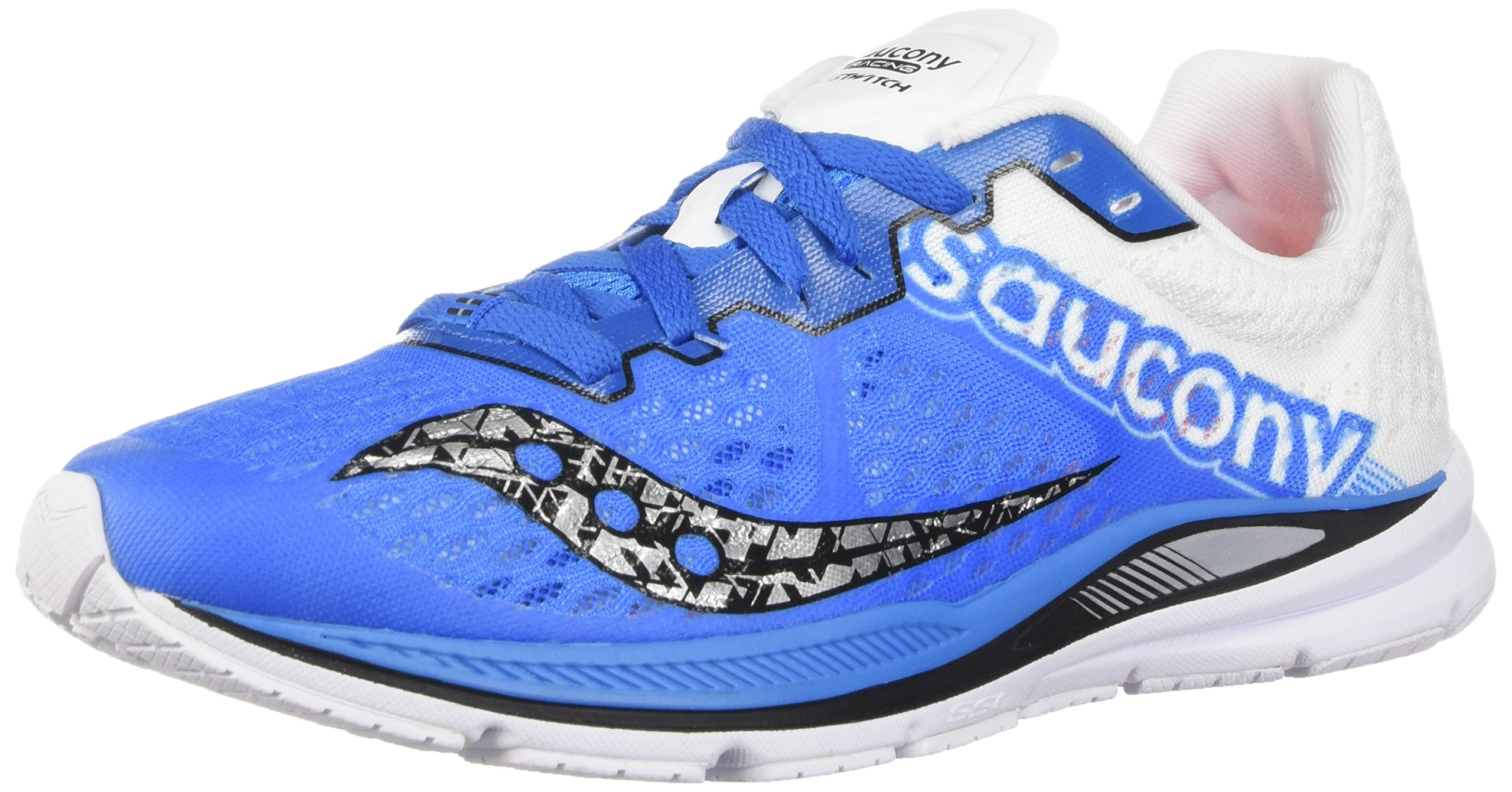 Saucony Men's Fastwitch 8 Cross Country Running Shoe, Blue/White, 7 Medium US by Saucony