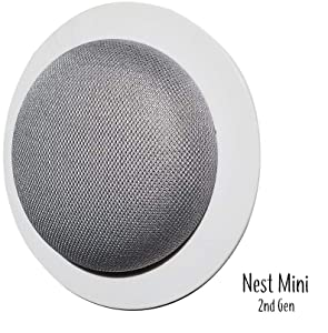 Mount Genie Simple Built-in Wall Mount for Google Nest Mini (2nd Gen) | Award Winning Design | Improves Sound and Appearance | Designed in USA (1-Pack)