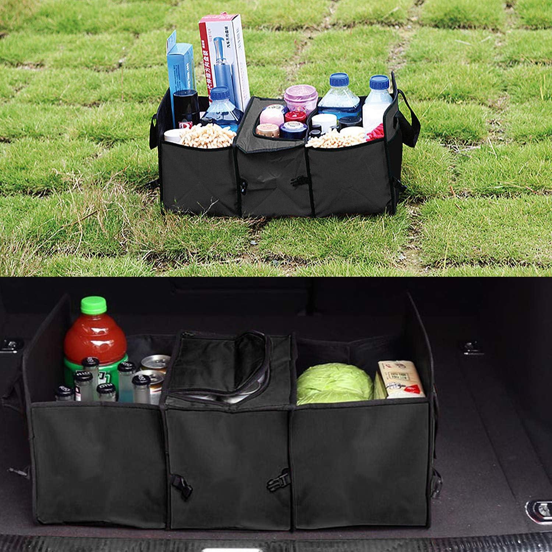 Impermeabile Pieghevole e Resistente Nero Borse Bagagliaio per SUV Auto con Copertura DESON Organizer Bagagliaio per Auto