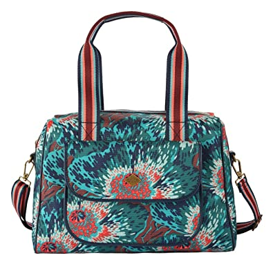 Winter Flowers M Carry All Teal Oilily uKA2UmkR