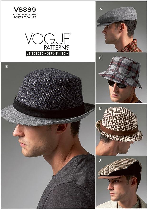 Men's Vintage Reproduction Sewing Patterns VOGUE PATTERNS V8869 Mens Hats Sewing Template  AT vintagedancer.com