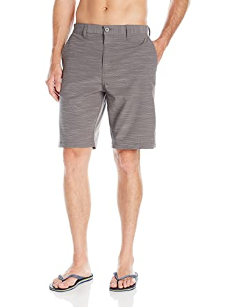 07bd229503 Burnside Men's High Stakes Stretch Hybrid Quick Drying Modern Fit Short,  Grey, ...