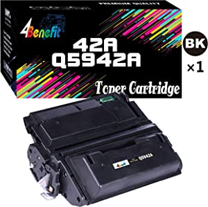 4Benefit Compatible Toner Cartridge Replacement for HP 42A Q5942A Q5942 Q1338A to Used wtih Laserjet 4250TN 4250N 4250DTN 4350N 4350TN 4350DTN (1-Pack, Black)