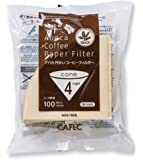 CAFEC 100-Pack Cone-shaped V60 02 Style Universal 1 to 4 Cup Disposable Pour-Over Drip Coffee Paper Filter made of Eco-Friendly Undyed Virgin Pulp for Better Tasting Brewing Pour Over Dripper (Brown)