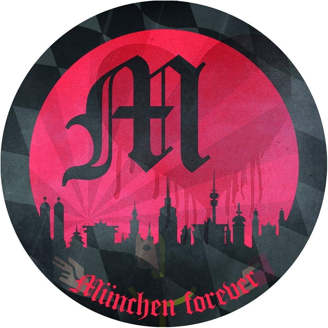 FC Bayern M/ünchen Autoaufkleber Aufkleber 3D Mia san mia FCB plus gratis Aufkleber forever M/ünchen Sticker