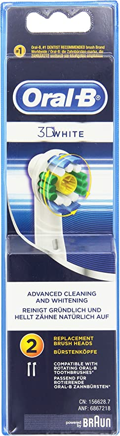 Oral-B Pack de 2 cabezales de repuesto para Cepillo eléctrico 3D ...