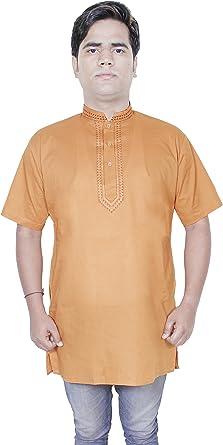 Camisa de la ropa de moda - para hombre de la manga larga de algodón kurta - vestidos india -size m: Amazon.es: Ropa y accesorios