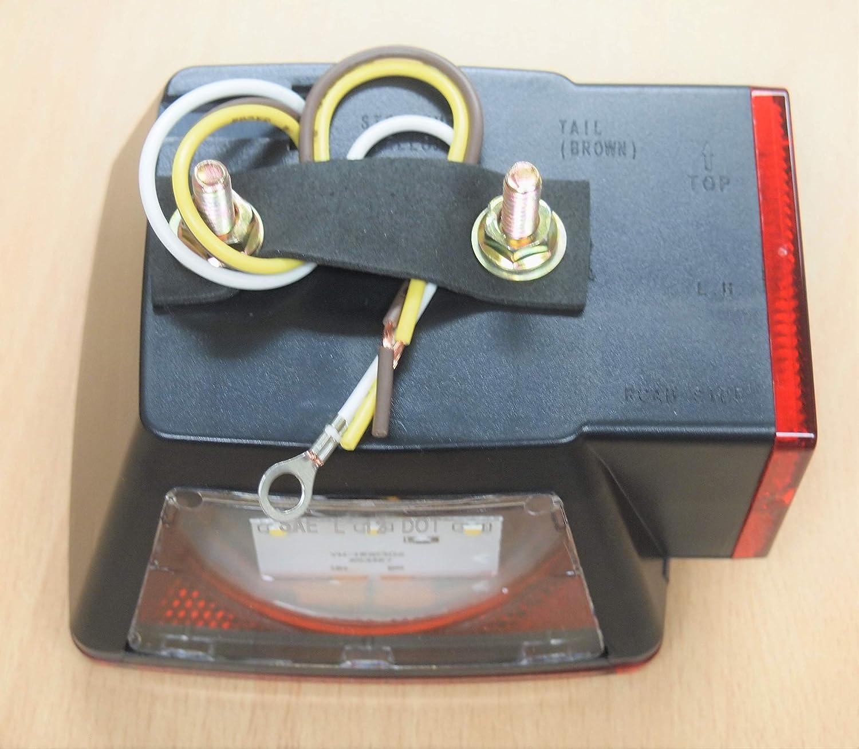 EAGLEKING 007N 12V LED Trailer Tail Light Multi-Function Submersible Reflectors DOT