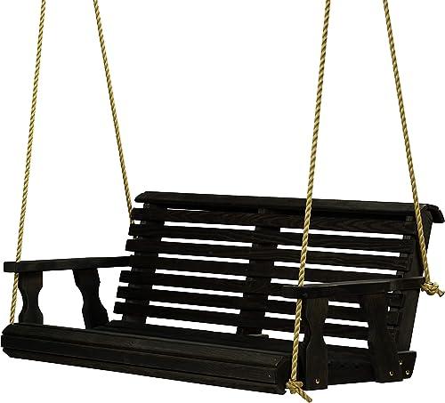 Amish Heavy Duty 800 Lb Roll Back Treated Porch Swing