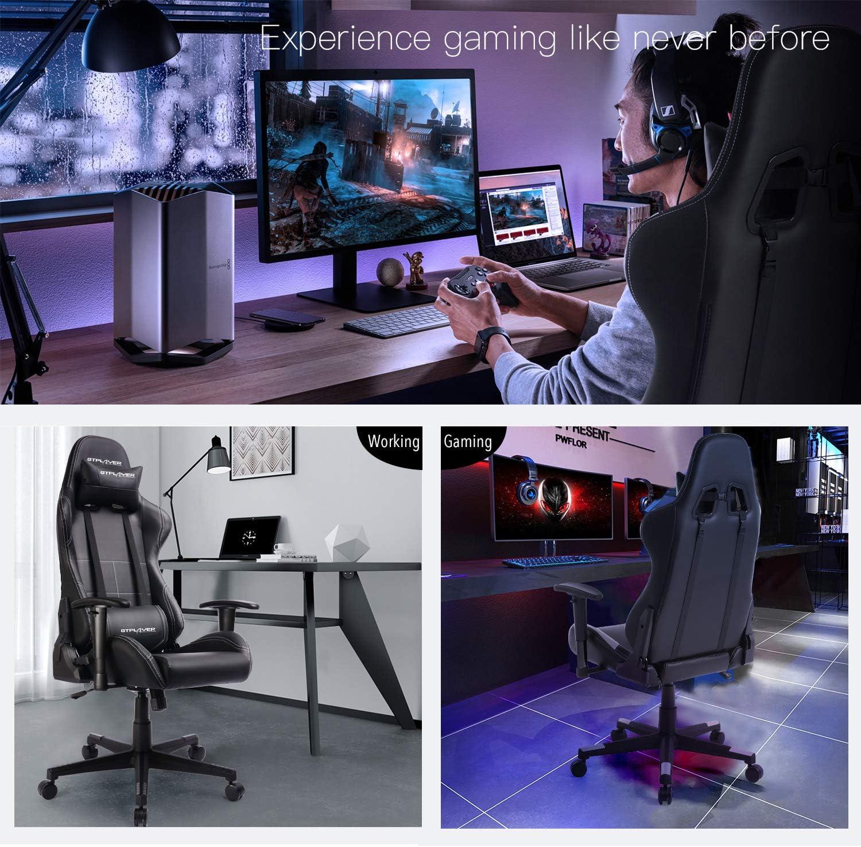 GTPLAYER Sedia Gaming Ufficio da Scrivania Sedia da Gaming Sedia Ergonomica con Schienale Alto Altezza Regolabile e Supporto Lombare