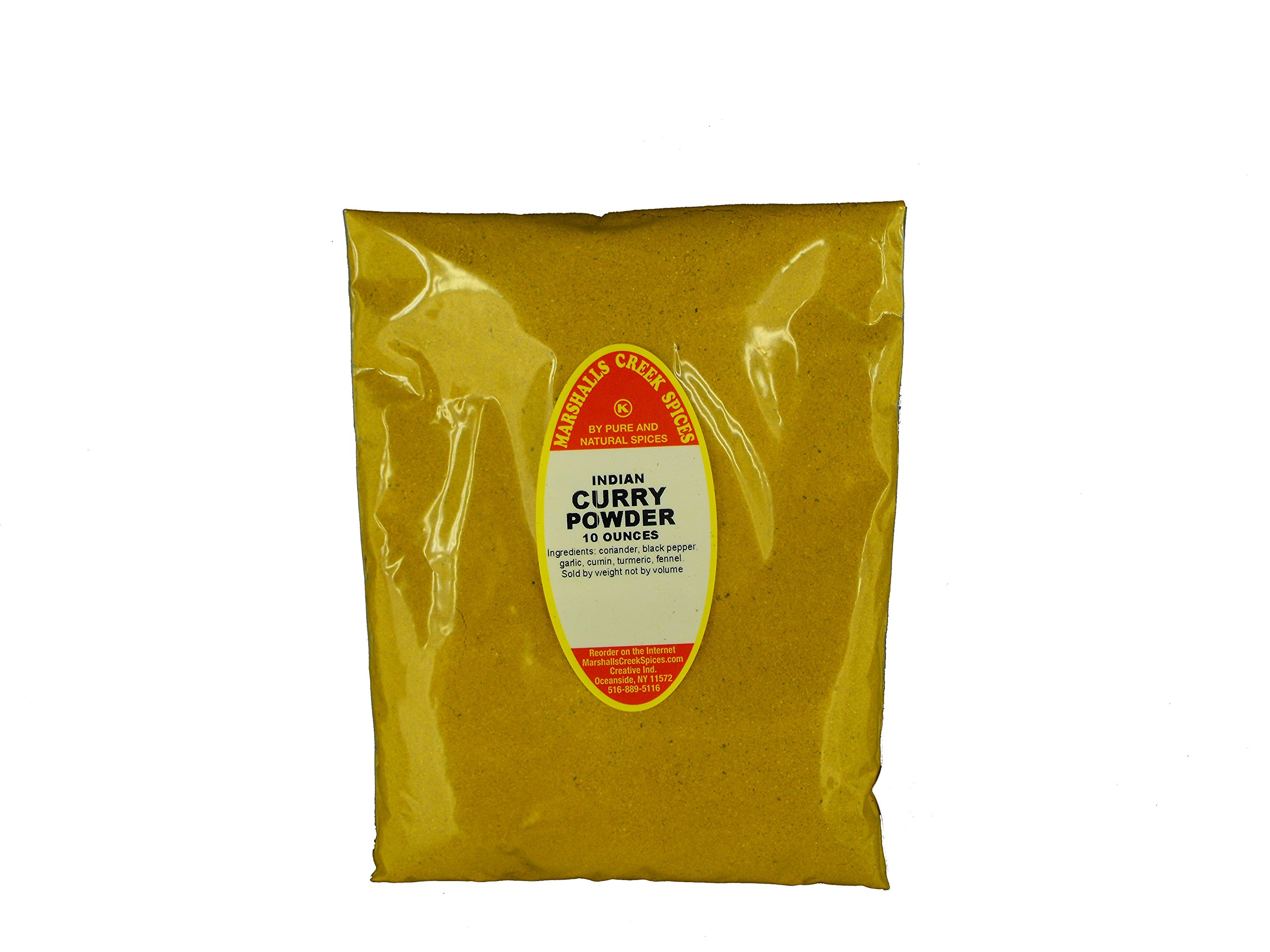 Marshalls Creek Kosher Spices (12 pack) CURRY POWDER, INDIAN REFILL,  10 oz.