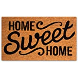 PLUS Haven Pure Coco Coir Doormat with Heavy-Duty PVC Backing - Home Sweet Home - Size: 17-Inches x 30-Inches - Pile Height: