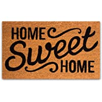 Pure Coco Coir Doormat with Heavy-Duty PVC Backing - Home Sweet Home - Size: 17-Inches x 30-Inches - Pile Height: 0.6…