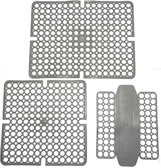 Bama 4/Pezzo Tappetino lavello 30/x 30/x 30/cm Argento